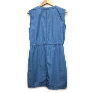 J. Crew Dresses - J. Crew Sleeveless Chambray Denim Sun Dress S